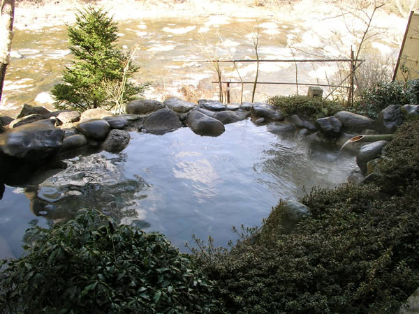 鬼怒川温泉の露天風呂